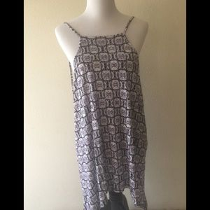 Asymmetrical long tank or dress NWOT
